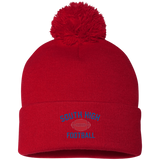 Football Vector Logo Outline_Pantone SP15 Sportsman Pom Pom Knit Cap