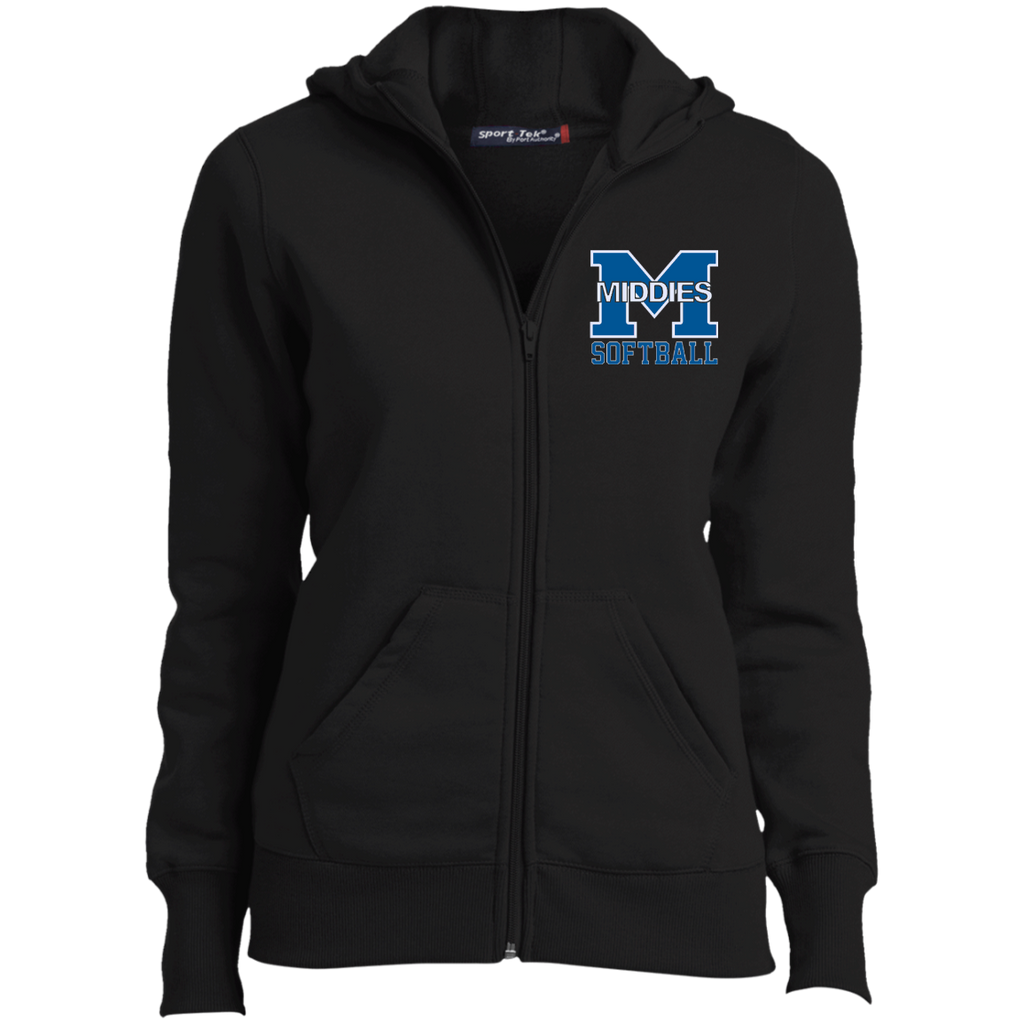Women's Full-Zip Hooded Sweatshirt - Middletown Softball