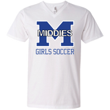 Men's V-Neck T-Shirt - Middletown Middie Girls Soccer