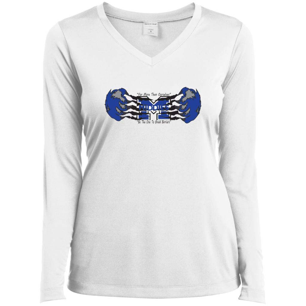 Women's Moisture Wicking Long Sleeve T-Shirt - Middletown Unified Basketball