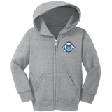 Toddler Full-Zip Hooded Sweatshirt - Middletown Baseball - Diamond Logo