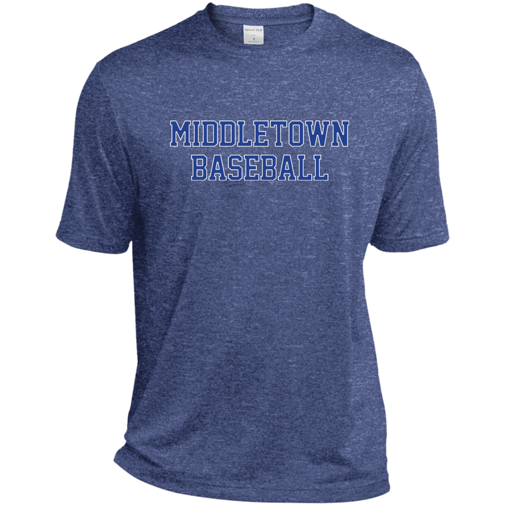 Men's Heather Moisture Wicking T-Shirt - Middletown Baseball