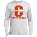 Men's Moisture Wicking Long Sleeve T-Shirt - Cambridge Track & Field - C Logo
