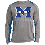 Heather Colorblock Long Sleeve T-Shirt - Middletown Middie Girls Soccer