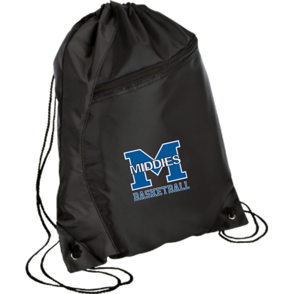 Drawstring Bag with Zippered Pocket - Middletown Girls Basketball