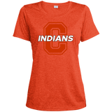 Women's Heather Moisture Wicking T-Shirt - Cambridge Indians - C Logo