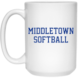 15 oz. Coffee Mug - Middletown Softball - Block Logo