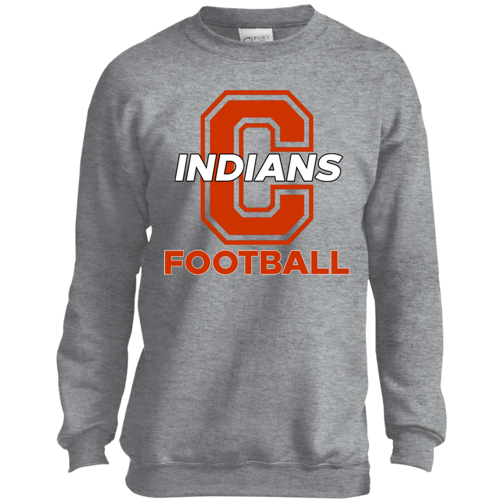 Youth Crewneck Sweatshirt - Cambridge Football - C Logo