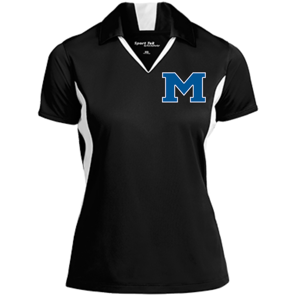 "Women's Moisture Wicking Polo - Middletown Block ""M"""