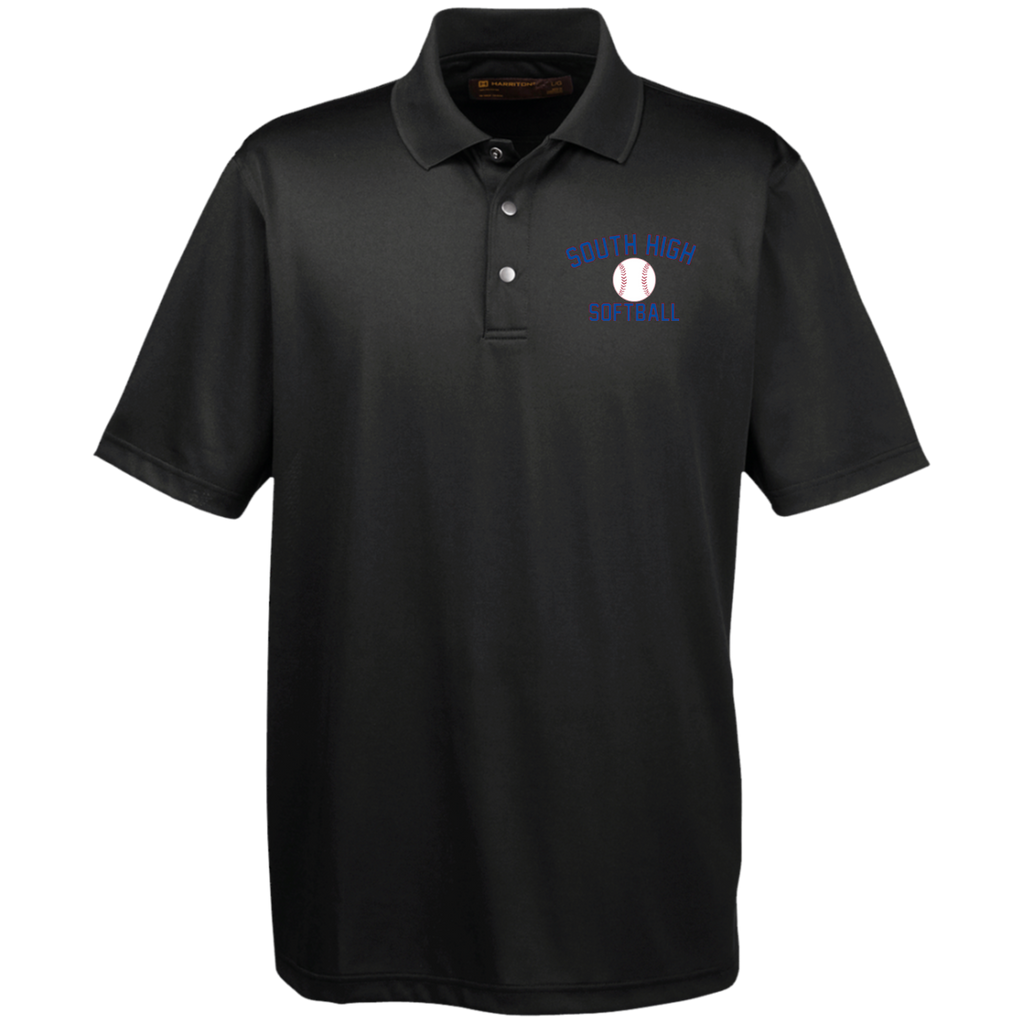 Men's Solid Moisture Wicking Polo - South Glens Falls Softball