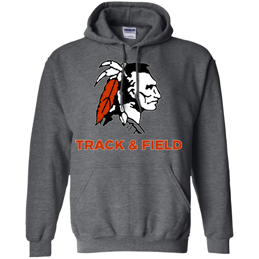 Men's Hooded Sweatshirt - Cambridge Track & Field - Indian Logo