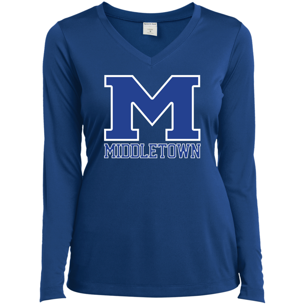 "Women's Moisture Wicking Long Sleeve T-Shirt - Middletown ""M"""