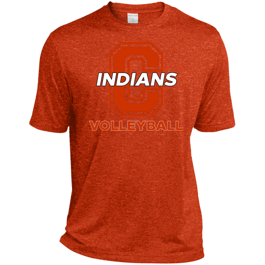Men's Heather Moisture Wicking T-Shirt - Cambridge Volleyball - C Logo