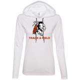 Women's T-Shirt Hoodie - Cambridge Track & Field - Indian Logo