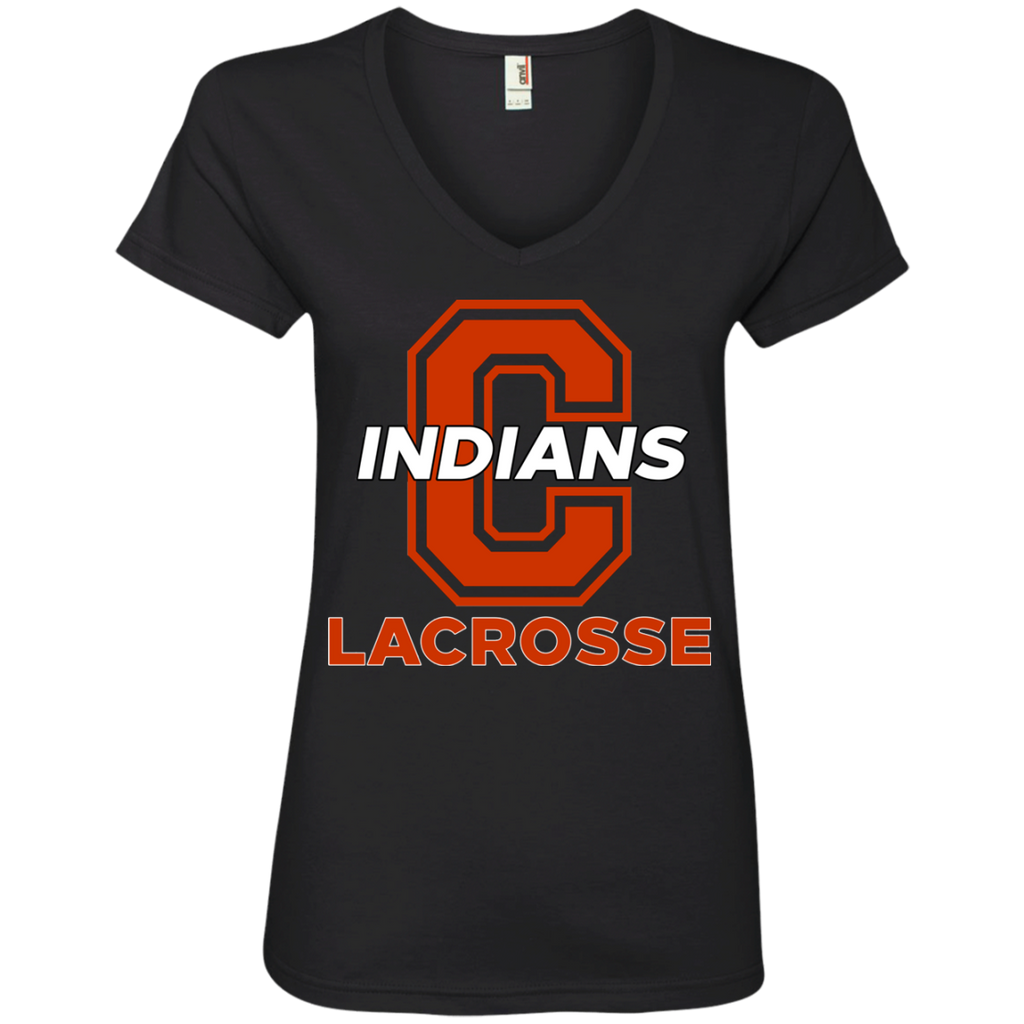 Women's V-Neck T-Shirt - Cambridge Lacrosse - C Logo