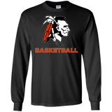 Men's Long Sleeve T-Shirt - Cambridge Basketball - Indian Logo