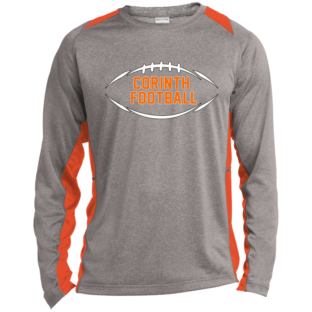 Heather Colorblock Long Sleeve T-Shirt - Corinth Football