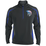 Men's Sport Wicking Half-Zip - Goshen American Flag