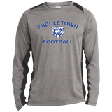 Heather Colorblock Long Sleeve T-Shirt - Middletown Football
