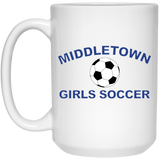 15 oz. Coffee Mug - Middletown Girls Soccer