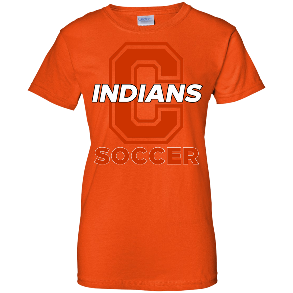 Women's Cotton T-Shirt - Cambridge Soccer - C Logo