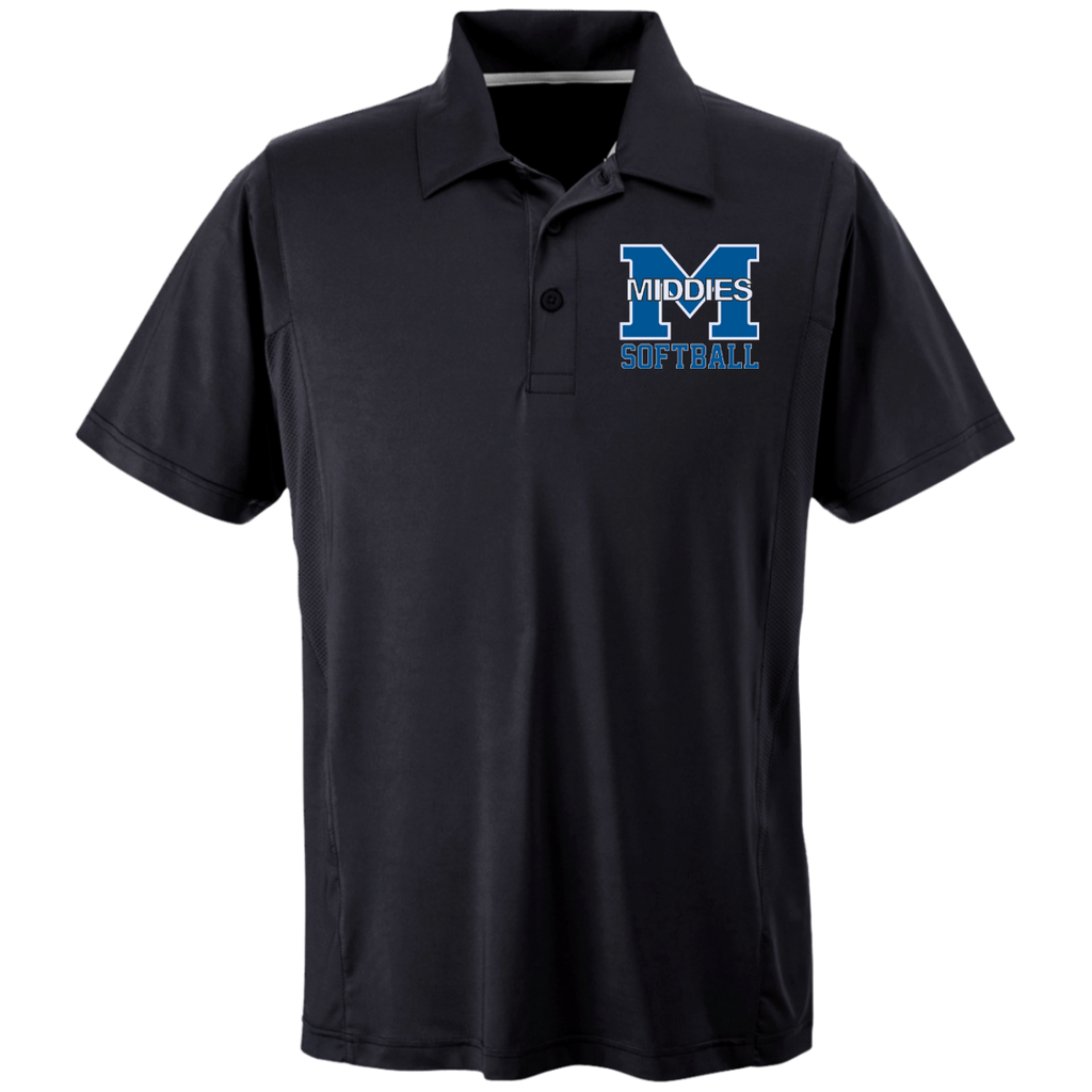 Men's Solid Moisture Wicking Polo - Middletown Softball
