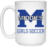 15 oz. Coffee Mug - Middletown Middie Girls Soccer