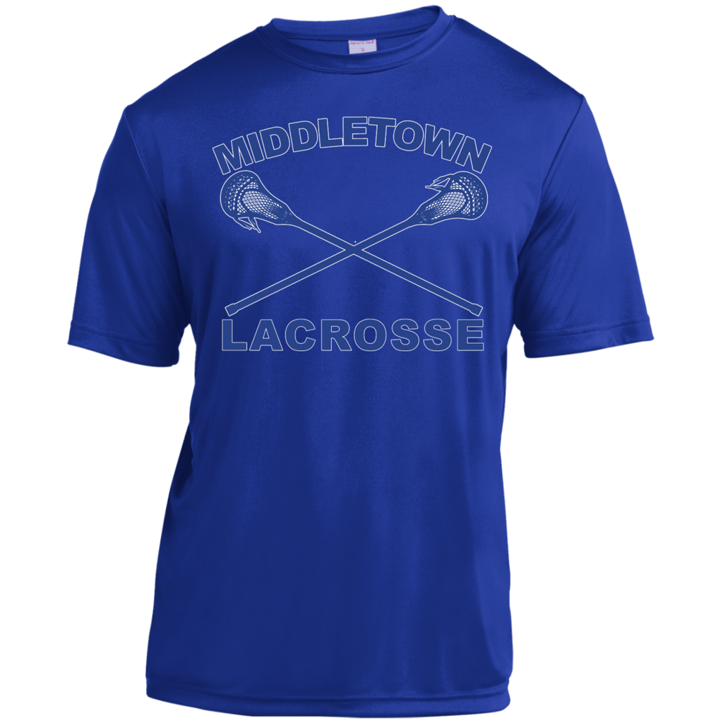 Men's Moisture Wicking T-Shirt - Middletown Girls Lacrosse - Sticks Logo
