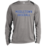 Heather Colorblock Long Sleeve T-Shirt - Middletown Baseball