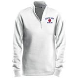 Bowling Vector Logo Outline_Pantone LST253 Sport-Tek Ladies' 1/4 Zip Sweatshirt