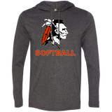 Men's T-Shirt Hoodie - Cambridge Softball - Indian Logo