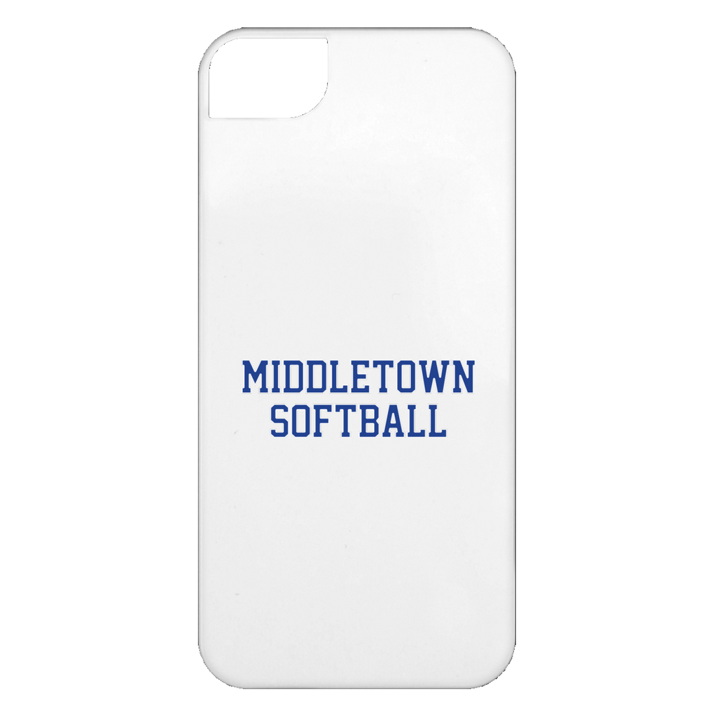 iPhone 5 Case - Middletown Softball - Block Logo