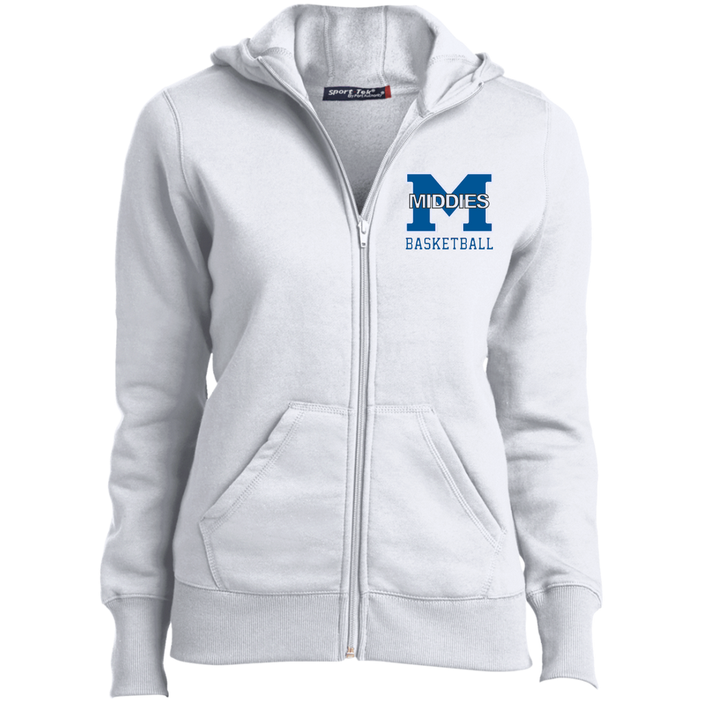 Women's Full-Zip Hooded Sweatshirt - Middletown Girls Basketball