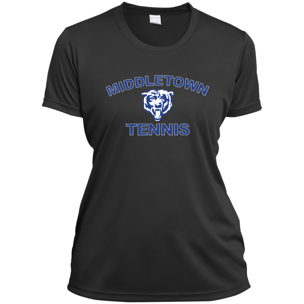 Women's Moisture Wicking T-Shirt - Middletown Tennis - Bear Logo