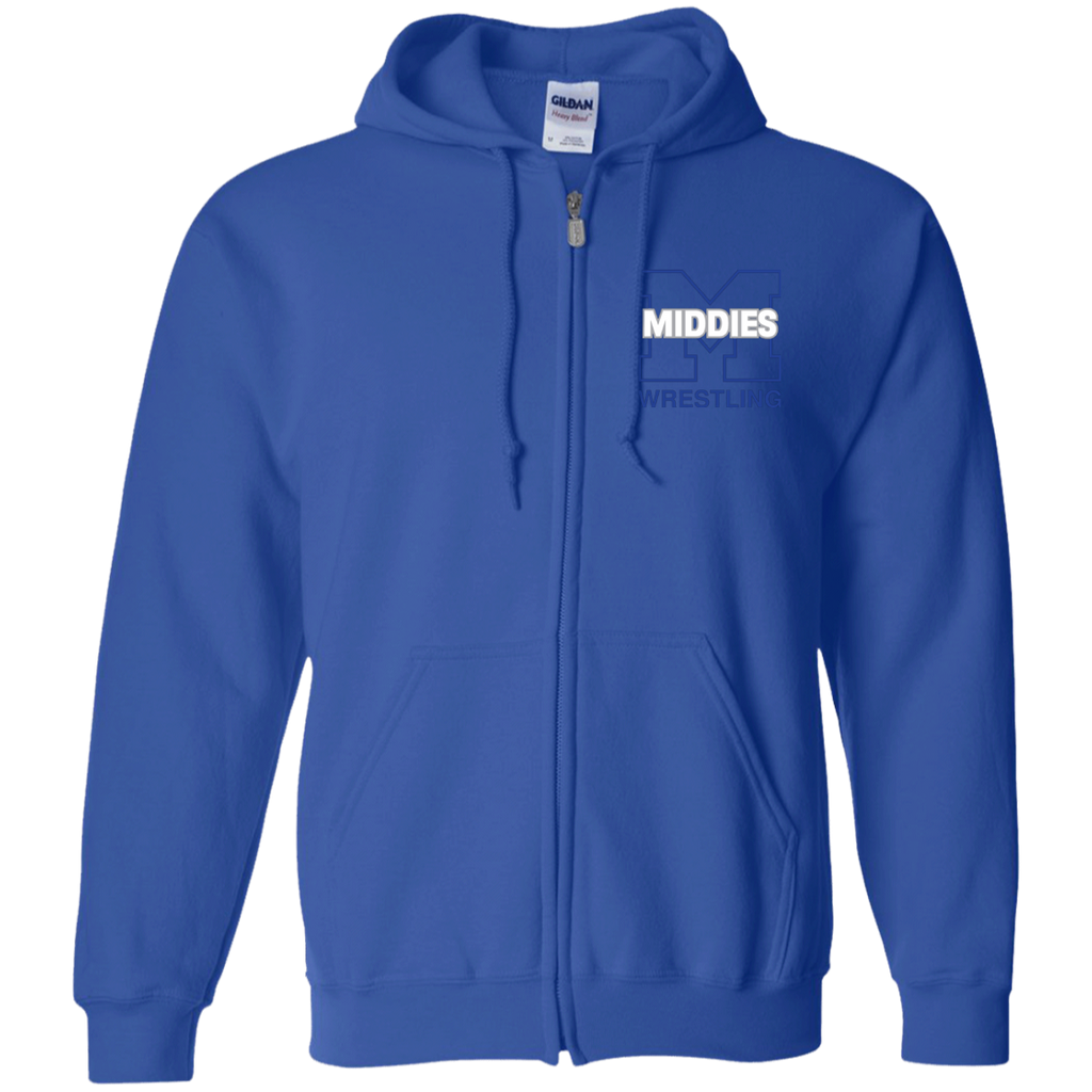 Men's Full-Zip Hooded Sweatshirt - Middletown Wrestling