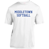 Youth Moisture Wicking T-Shirt - Middletown Softball - Block Logo