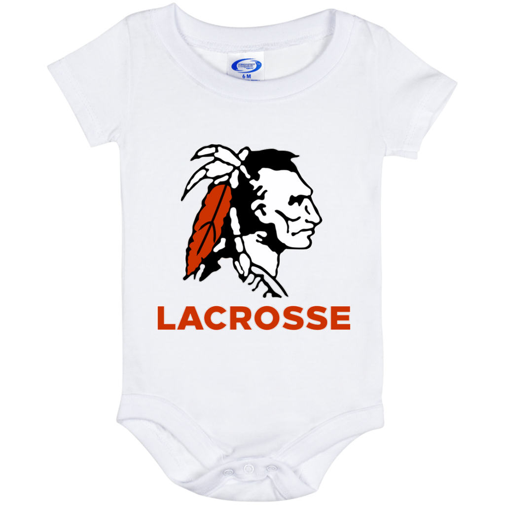 Baby Onesie 6 Month - Cambridge Lacrosse - Indian Logo