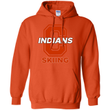 Men's Hooded Sweatshirt - Cambridge Skiing - C Logo