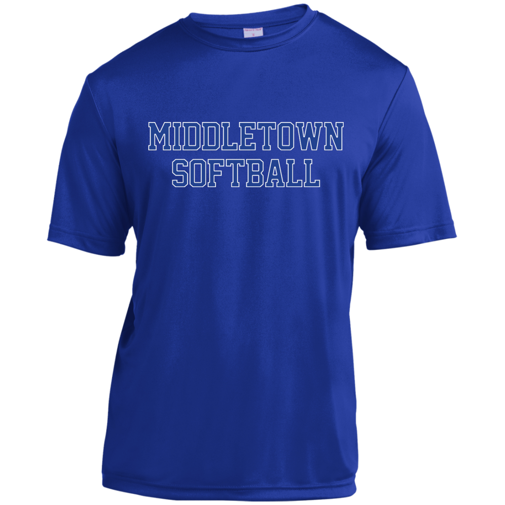 Men's Moisture Wicking T-Shirt - Middletown Softball - Block Logo