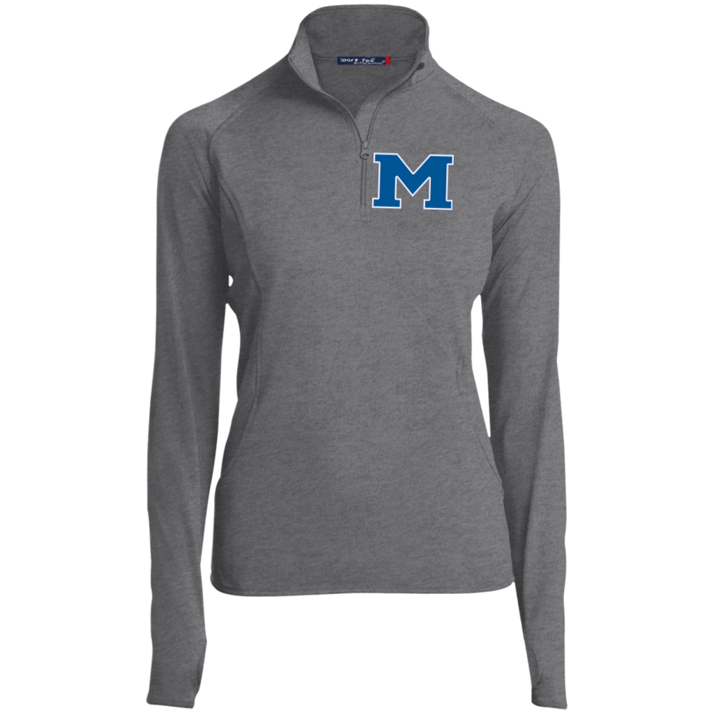 "Women's Performance Quarter Zip Sweatshirt - Middletown Block ""M"""