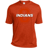 Men's Heather Moisture Wicking T-Shirt - Cambridge Indians - C Logo