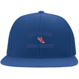 X-Country Vector Logo Outline_Pantone 6297F Yupoong Flat Bill Twill Flexfit Cap