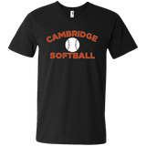 Men's V-Neck T-Shirt - Cambridge Softball