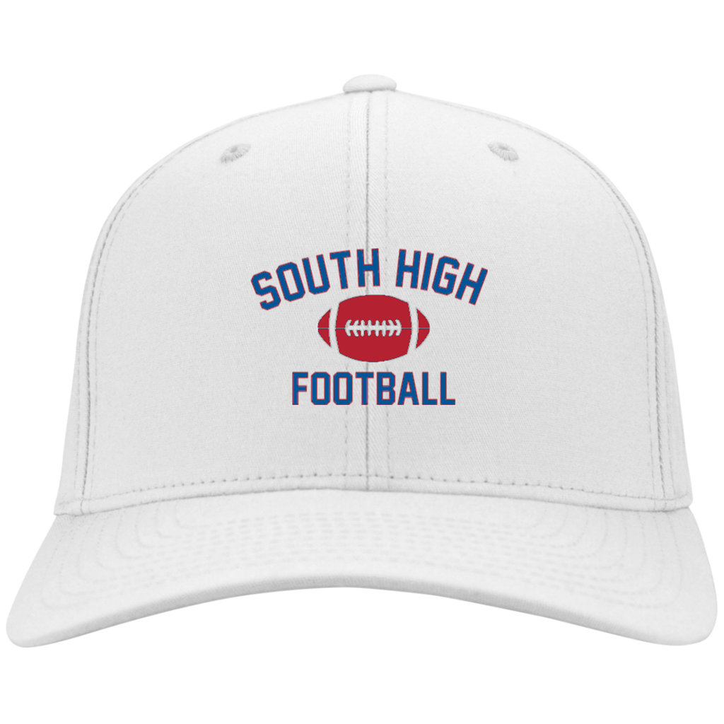 Football Vector Logo Outline_Pantone YSTC10 Sport-Tek Youth Dri-Fit Nylon Cap