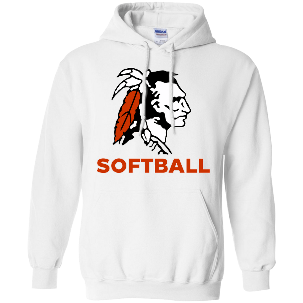 Men's Hooded Sweatshirt - Cambridge Softball - Indian Logo