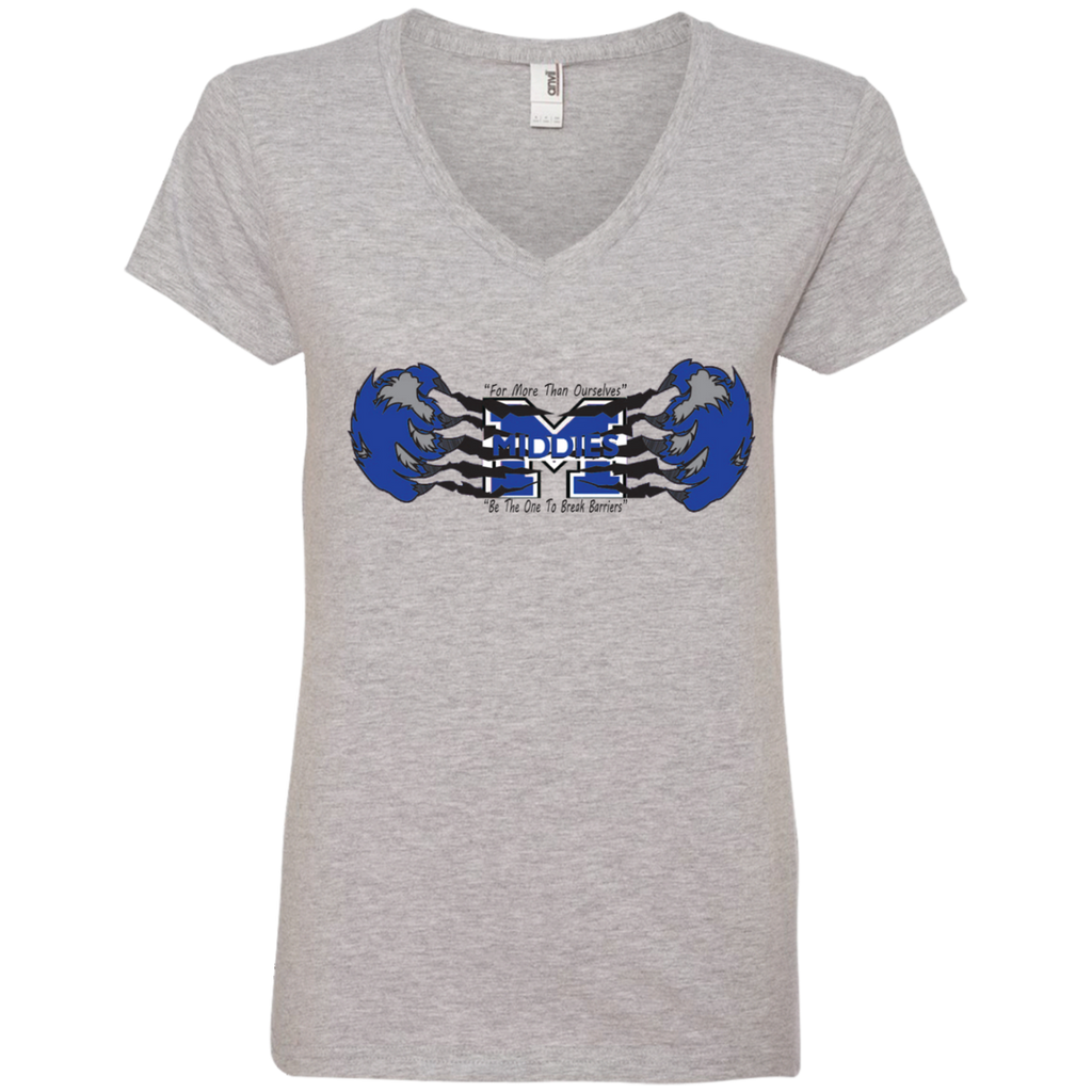 Women's V-Neck T-Shirt - Middletown Unified Basketball