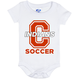 Baby Onesie 6 Month - Cambridge Soccer - C Logo