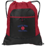 Drawstring Bag with Pocket - South Glens Falls Volleyball