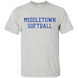 Men's Cotton T-Shirt - Middletown Softball - Block Logo