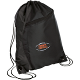 Drawstring Bag with Zippered Pocket - Corinth Football